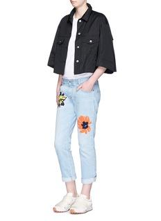 STELLA MCCARTNEYBonded flower print light washed boyfriend jeans