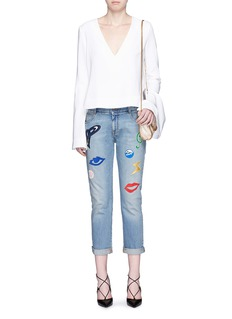 STELLA MCCARTNEYEmbroidered patch appliqué washed jeans