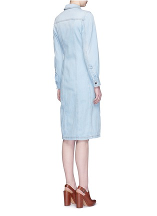 Back View - Click To Enlarge - Stella McCartney - Washed cotton denim dress