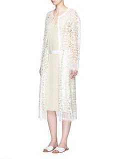 PRINGLE OF SCOTLANDLattice lace belted coat