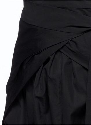 Detail View - Click To Enlarge - Isabel Marant - 'Mander' wraparound waist poplin harem pants
