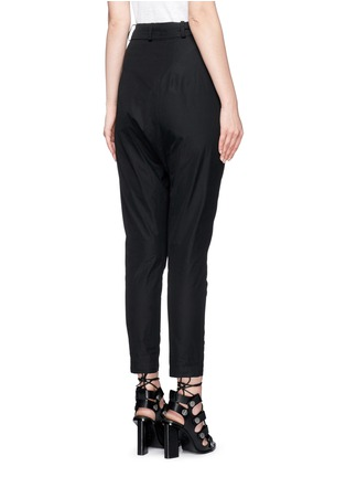 Back View - Click To Enlarge - Isabel Marant - 'Mander' wraparound waist poplin harem pants