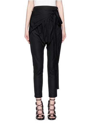 Main View - Click To Enlarge - Isabel Marant - 'Mander' wraparound waist poplin harem pants