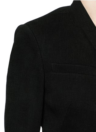Detail View - Click To Enlarge - Isabel Marant - 'Falco' sash tie waffle knit wrap jacket