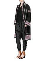 'Falco' sash tie waffle knit wrap jacket