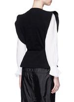 'Fauna' asymmetric drape waffle knit wrap top