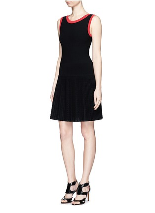 Figure View - Click To Enlarge - Alaïa - 'Tango' stripe panel knit dress