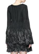'Rapa Nui' raffia fringe knit top