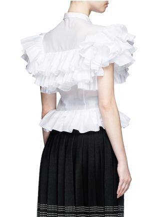 Azzedine Alaïa-Ruffle cotton voile peplum shirt