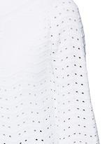 'Fidji' flare sleeve zigzag stripe knit coat
