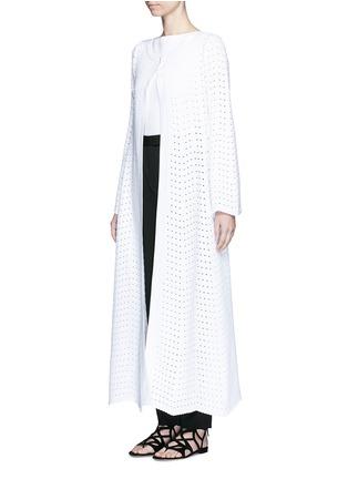 Alaïa-'Fidji' flare sleeve zigzag stripe knit coat