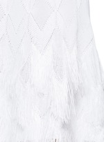 'Rapa Nui' raffia fringe knit dress