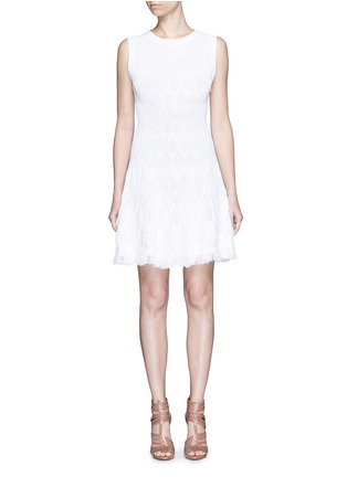 Main View - Click To Enlarge - Alaïa - 'Rapa Nui' raffia fringe knit dress