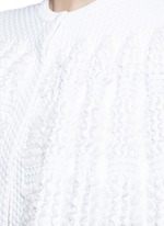 'Marquises' ruffle trim dot jacquard cropped cape