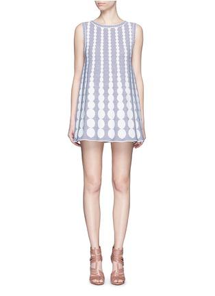 Main View - Click To Enlarge - Alaïa - 'Moorea' graduating dot stripe jacquard knit dress