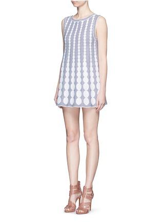Alaïa-'Moorea' graduating dot stripe jacquard knit dress