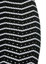 'Fidji' bicolour perforated zigzag knit leggings