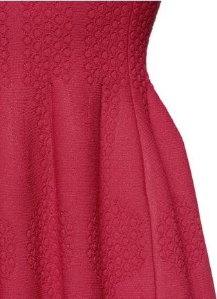 Detail View - Click To Enlarge - Alaïa - 'Vanuatu' dot cloqué knit dress
