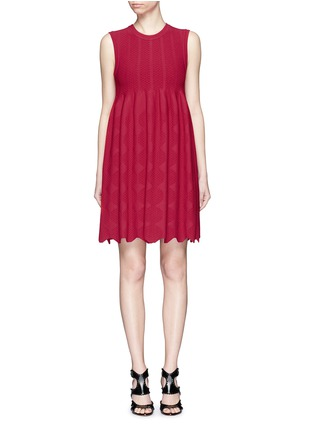 Main View - Click To Enlarge - Alaïa - 'Vanuatu' dot cloqué knit dress