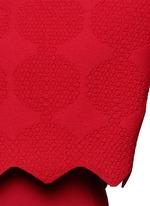 'Vanuatu' dot cloqué cropped cardigan
