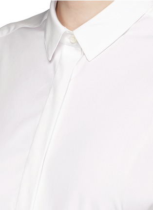 Detail View - Click To Enlarge - Neil Barrett - Oversized stretch poplin shirt dress