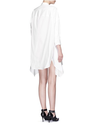 Back View - Click To Enlarge - Neil Barrett - Oversized stretch poplin shirt dress