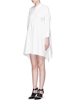 Front View - Click To Enlarge - Neil Barrett - Oversized stretch poplin shirt dress