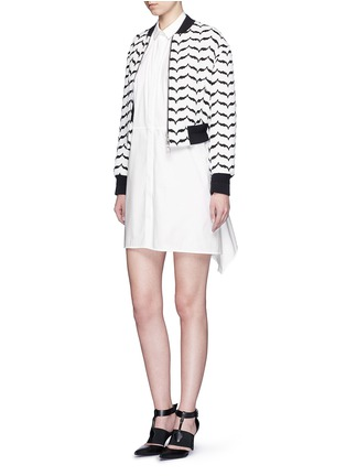 Figure View - Click To Enlarge - Neil Barrett - Oversized stretch poplin shirt dress