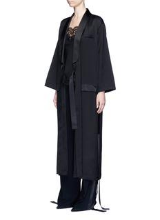 GIVENCHYSatin shawl lapel sash waist coat