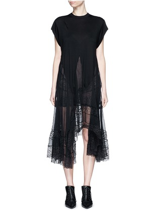 Givenchy - Asymmetric silk hem jersey dress