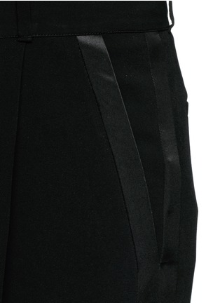Detail View - Click To Enlarge - Givenchy - Satin tuxedo stripe wide leg pants