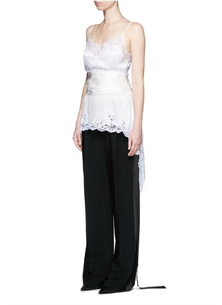 Figure View - Click To Enlarge - Givenchy - Satin tuxedo stripe wide leg pants