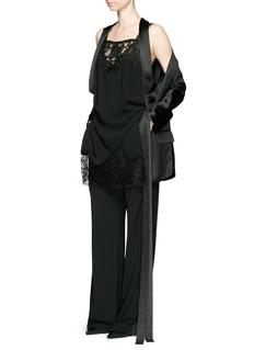 GIVENCHYOpen back lace trim apron cady jumpsuit