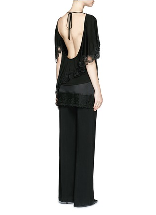 Back View - Click To Enlarge - Givenchy Beauty - Open back lace trim asymmetric hem top