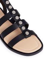 Stud leather gladiator sandals