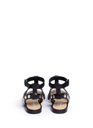 Back View - Click To Enlarge - Balenciaga - Stud leather gladiator sandals
