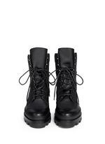 Platform leather desert boots