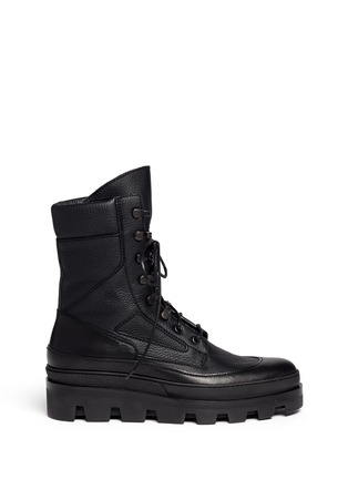 Main View - Click To Enlarge - Balenciaga - Platform leather desert boots