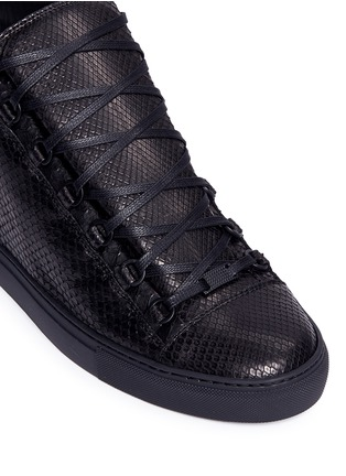 Detail View - Click To Enlarge - Balenciaga - Python effect leather high top sneakers