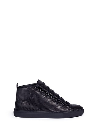 Main View - Click To Enlarge - Balenciaga - Python effect leather high top sneakers