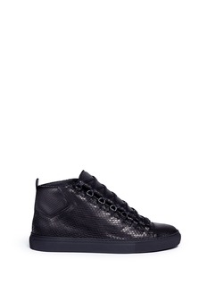 Balenciaga Python effect leather high top sneakers