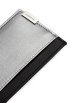 'Phileas' grid embossed leather cardholder