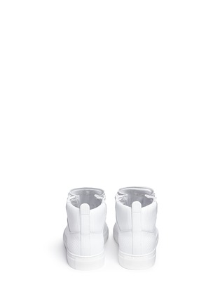Back View - Click To Enlarge - Balenciaga - Carbone effect leather sneakers