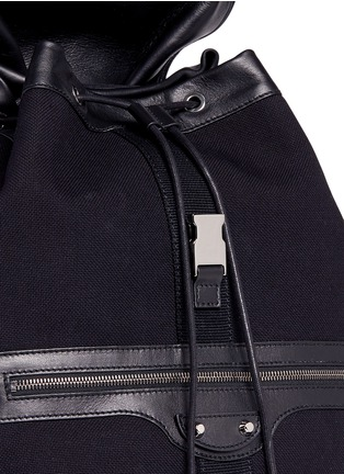 Detail View - Click To Enlarge - Balenciaga - 'Traveller' treck cotton canvas backpack
