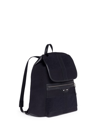 Front View - Click To Enlarge - Balenciaga - 'Traveller' treck cotton canvas backpack