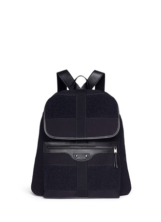 Main View - Click To Enlarge - Balenciaga - 'Traveller' treck cotton canvas backpack