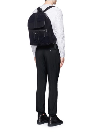 Figure View - Click To Enlarge - Balenciaga - 'Traveller' treck cotton canvas backpack