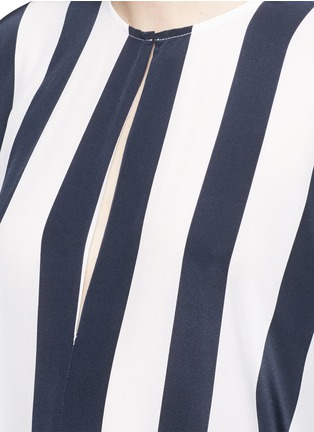 Detail View - Click To Enlarge - Tome - Stripe crepe de Chine oversize jumpsuit