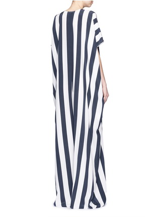 Back View - Click To Enlarge - Tome - Stripe crepe de Chine oversize jumpsuit