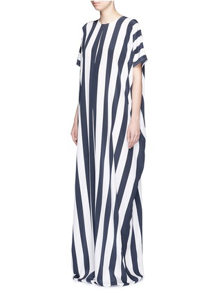 Front View - Click To Enlarge - Tome - Stripe crepe de Chine oversize jumpsuit